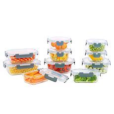 Gourmet Edge 20-piece Glass Food Storage Set