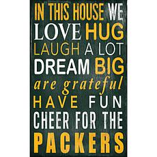 Green Bay Packers In This House Sign