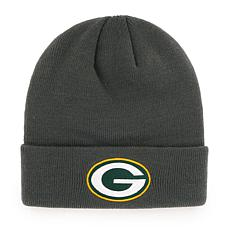 Green Bay Packers NFL Gray Cuff Knit Beanie