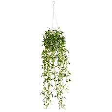 Green Variegated Wandering Jew Hanging Basket Artificial Plant