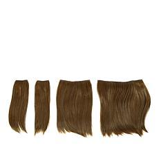 Hair2Wear Light Brown Straight 4-piece Hair Extension