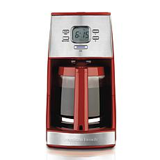 Hamilton Beach Ensemble 12 Cup Coffee Maker, Red