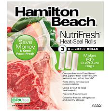 Hamilton Beach NutriFresh Heat-Seal Rolls 3 8 in x 20 ft Rolls