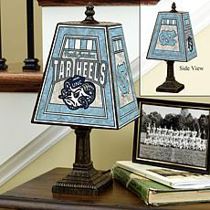 Handpainted Art Glass Lamp - North Carolina - College