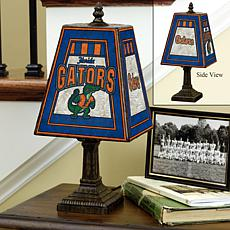 Handpainted Art Glass Team Lamp - Florida - College