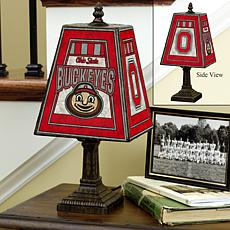Handpainted Art Glass Team Lamp - Ohio State - College