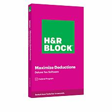 H&R Block Deluxe Tax Software