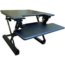 "Hanover 27""W Tabletop Sit/Stand Lift Desk w/Adjustable Height (Black)"