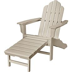 Hanover Adirondack Chair with Ottoman - Sandy Shore