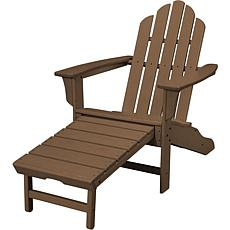 Hanover Adirondack Chair with Ottoman - Teak