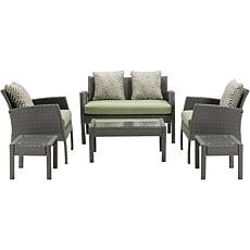 Hanover Chelsea Collection 6pc Patio Set Cilantro Green