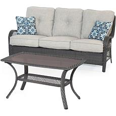 Hanover Orleans 2-Piece Patio Set - Silver