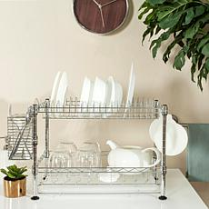 Happimess Darina Adjustable  Wire Dish Rack - Chrome