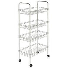 happimess Laura Chrome 4-Tier Adjustable Basket Storage Rack