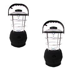 Happy Camper LED Crank Lanterns - Set of 2