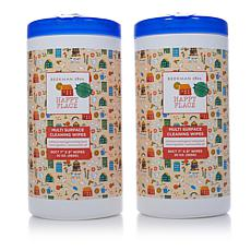 Happy Place 2-pack 80-count Multi-Surface Wipe Canisters