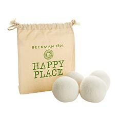 Happy Place Set of 4 Wool Dryer Balls with Storage Bag