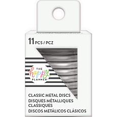 Happy Planner Medium Metal Expander Discs 11/Pkg - Silver