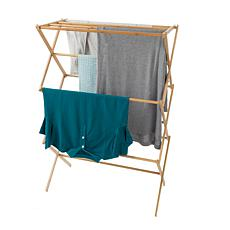 Hastings Home Bamboo Wooden Clothes Drying Rack