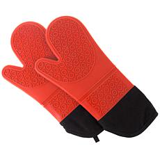 Hastings Home Silicone Oven Mitt – Extra Long