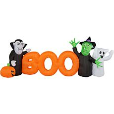 Haunted Hill Farm 10' Inflatable Boo Sign with Lights