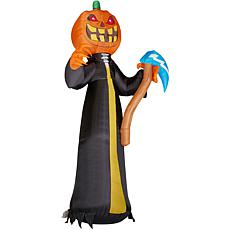 Haunted Hill Farm 10' Inflatable Jack O'Lantern Reaper w Moving Head