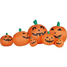 Haunted Hill Farm 10' Inflatable Pumpkin Family with Lights