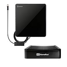 HDHomeRun Extend Media Streamer with ANTOP 50-Mile Range TV Antenna