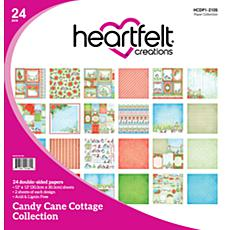 Heartfelt Creations 24-Pack Candy Cane Cottage Paper Collection