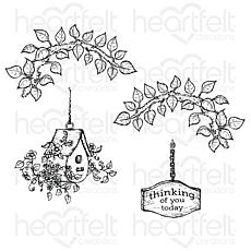 Heartfelt Creations Cherry Blossom Retreat Cling Stamp Set