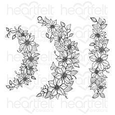 Heartfelt Creations Clematis Spray Cling Stamp Set