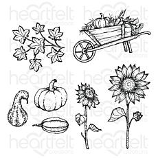 Heartfelt Creations Cottage Summer'scapes Cling Stamp Set