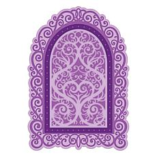 Heartfelt Creations Elegant Swirl Gateway  Dies