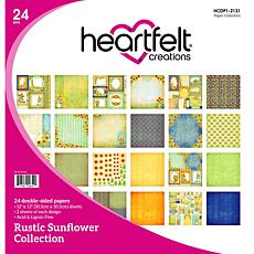 Heartfelt Creations Rustic Sunflower Paper Collection