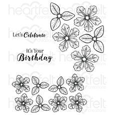 Heartfelt Creations Small Classic Petunia Cling Stamp Set