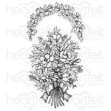 Heartfelt Creations Sweet Magnolia Bouquet Cling Stamp Set