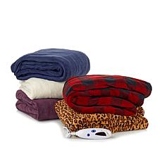 Heated Microplush Throw