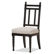 Heather Beige Fabric & Black Wood Dining Chair