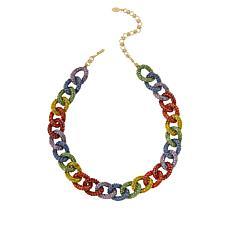 "Heidi Daus 18"" ""Send Me a Link"" Multi-Color Crystal Necklace"