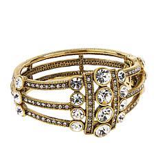 "Heidi Daus ""An Affair to Remember"" Crystal Multi-Row Bangle Bracelet"