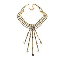 "Heidi Daus ""An Affair to Remember"" Crystal Multi-Row Tassel Necklace"