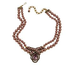 "Heidi Daus ""An Interesting Twist"" 2-Strand Beaded  Drop Necklace"