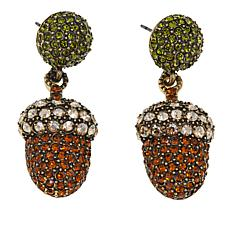 "Heidi Daus ""Autumn Foliage"" Crystal Drop Earrings"