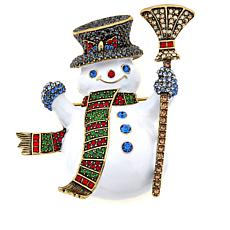 "Heidi Daus ""Blizzard O'Flurry"" Enamel and Crystal Pin"