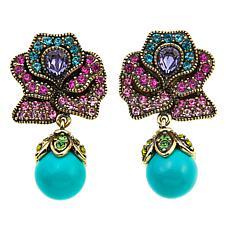 "Heidi Daus ""Blossoming Beauty"" Crystal Drop Earrings"