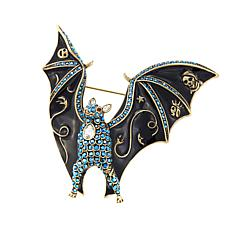 "Heidi Daus ""Boo-tiful Bat"" Crystal and Enamel Pin"