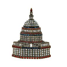 "Heidi Daus ""Capitol Idea"" Crystal Pin"