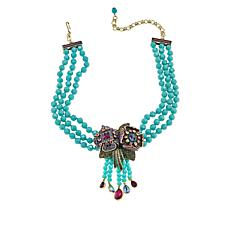 "Heidi Daus ""Captivating Corsage"" 3-Strand Tassel Drop Necklace"