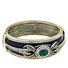 "Heidi Daus ""Casual Chic"" Hinged Bangle Bracelet"