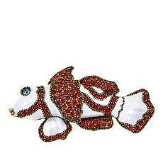 "Heidi Daus ""Catch of the Day"" Crystal and Enamel Pin"